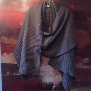 Mossimo, OS Taupe Draped Asymmetrical Sweater Vest